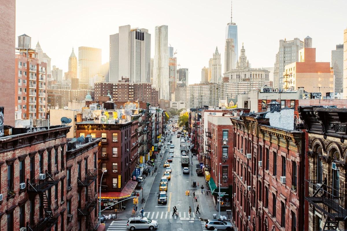 Street view of New York City