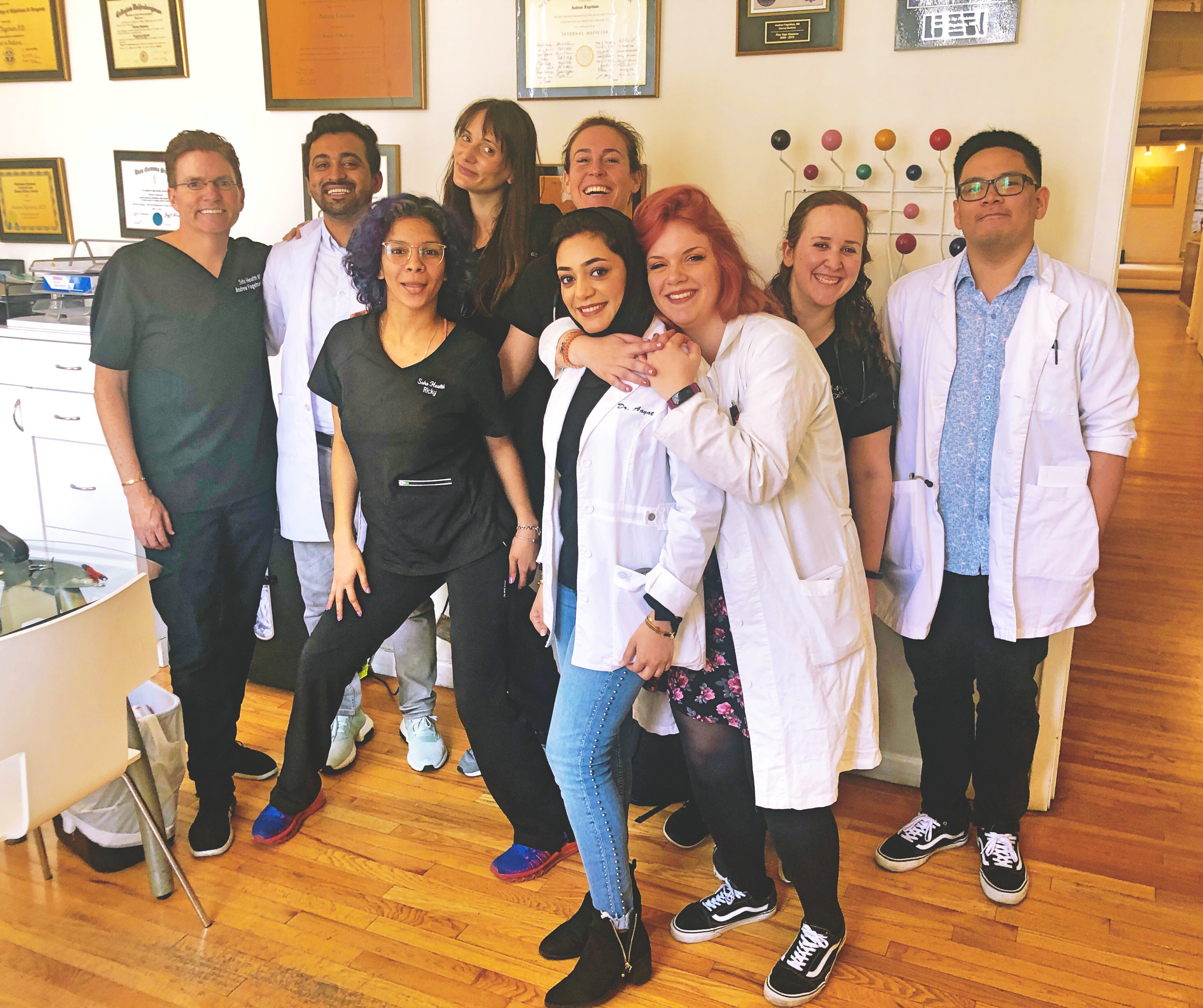 Valentina with physician medical team in New York City