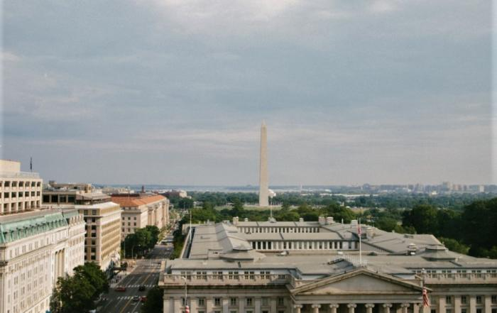Washington D.C. skyline with the national monument in the background
