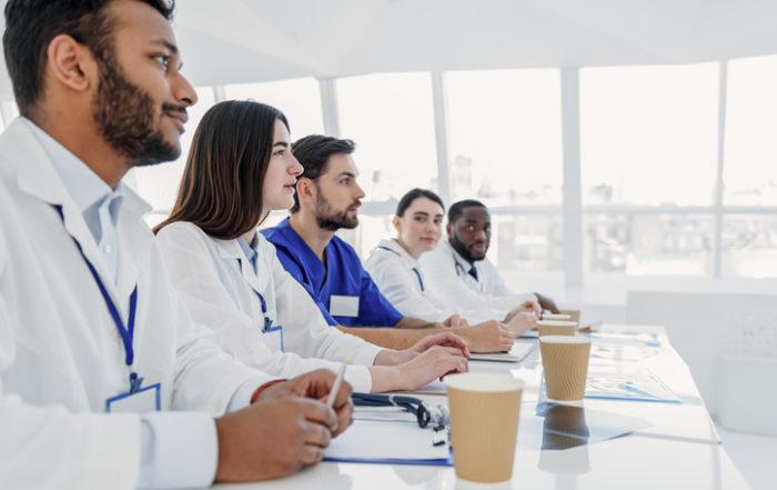 Students at medical school.