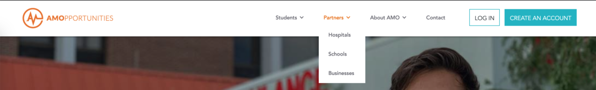 Preview of AMO's new website Partners tab